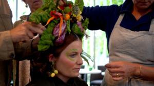 Flower decoration in hair