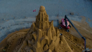 Sand castle from above