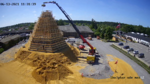 Sandcastle being built