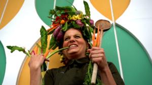 Vegetables in hair